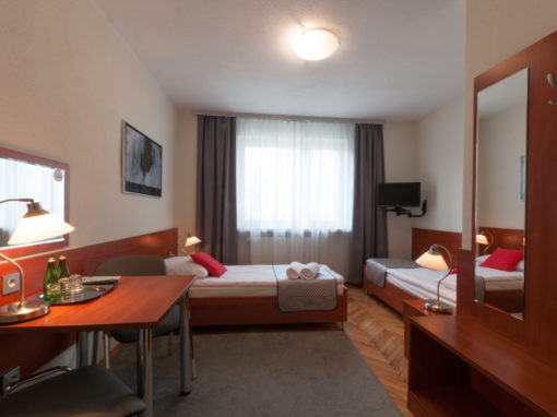 PREMIUM DOUBLE ROOM TWO SINGLE BEDS